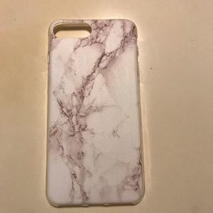 White Marble iPhone 7 Plus 8 Plus Clear Phone Case